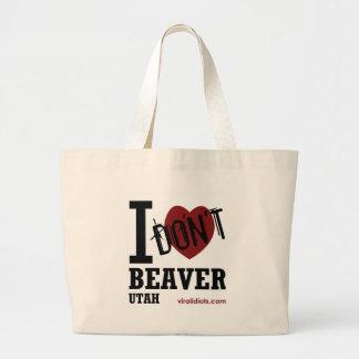 I Don't Heart Beaver, Utah Bags