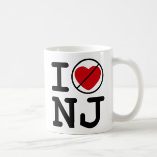 I Don't Heart New Jersey Basic White Mug