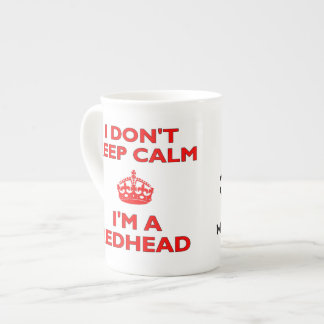 I Don't Keep Calm I'm A Redhead MC1R Gene Carrier Bone China Mug