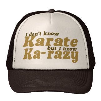 I don't Know Karate Mesh Hats