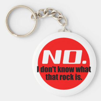 I Don't Know What That Rock Is (Red) Basic Round Button Key Ring