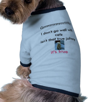 I don't like cats ringer dog shirt