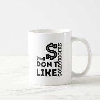 I Don't Like Gold Diggers Basic White Mug