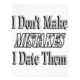 I Don't Make Mistakes I Date Them 21.5 Cm X 28 Cm Flyer