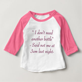 I Don't Need Another Bottle |Funny Girls Bodysuit