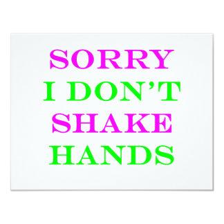 I Don't Shake Hands 2 Custom Invitation