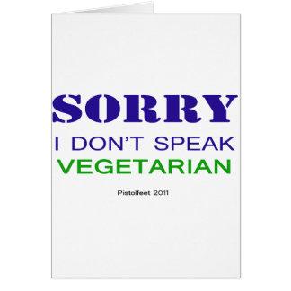 I don't speak vegetarian v2 card