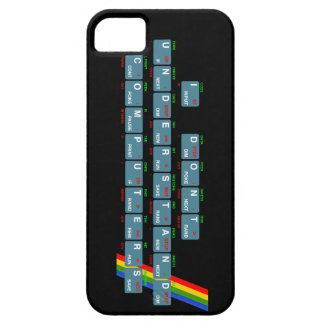 I Don't Understand Computers - iPhone (black) iPhone 5 Covers