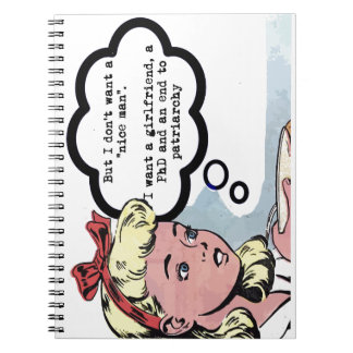 """I don't want a """"nice man"""" (feminism) notebook"""