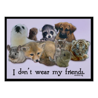 I DOn't Wear My Friends Poster
