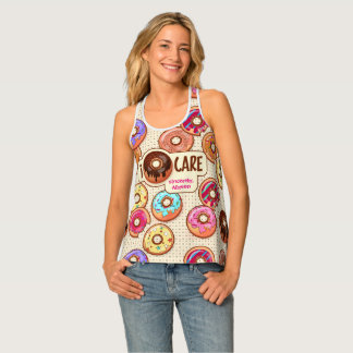 I Donut Care Cute Funny Humorous Sweet Donuts Love Tank Top