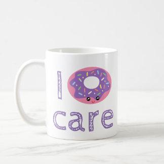 I donut care cute kawaii doughnut pun humor emoji coffee mug