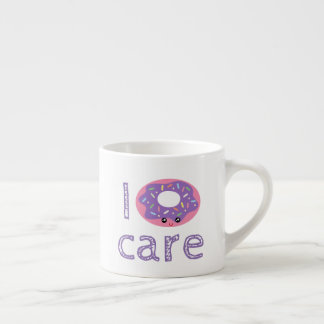 I donut care cute kawaii doughnut pun humor emoji espresso cup