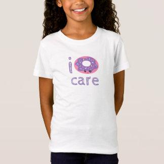 I donut care cute kawaii doughnut pun humor emoji T-Shirt