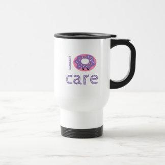 I donut care cute kawaii doughnut pun humor travel mug