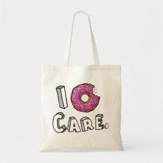 I Donut Care Funny Tote Bag