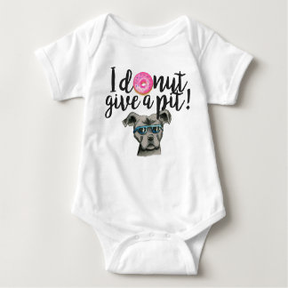 I Donut Give A Pit Watercolor Illustration Baby Bodysuit