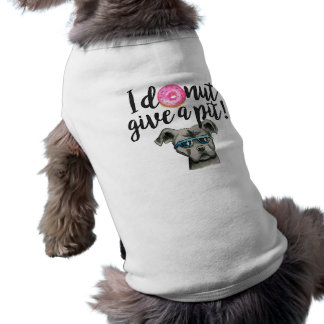 I Donut Give A Pit Watercolor Illustration Sleeveless Dog Shirt
