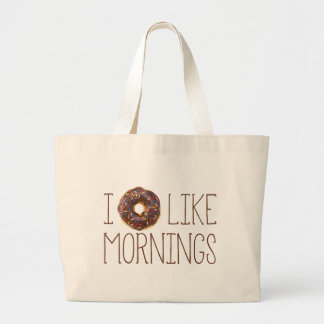 I Donut Like Mornings Canvas Bags