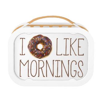 I Donut Like Mornings Lunchbox
