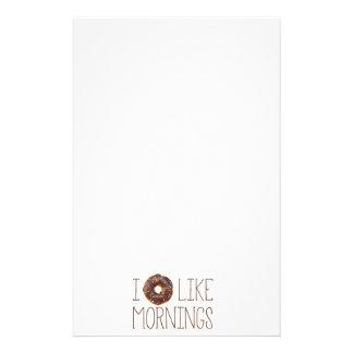 I Donut Like Mornings Personalized Stationery