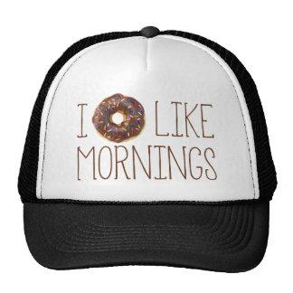 I Donut Like Mornings Trucker Hat
