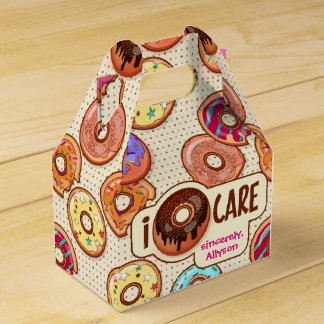 I Doughnut Care Cute Funny Donut Sweet Treats Love Favour Box