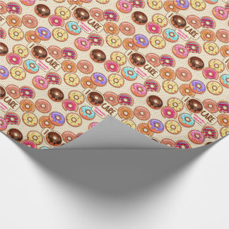 I Doughnut Care Cute Funny Donut Sweet Treats Love Wrapping Paper