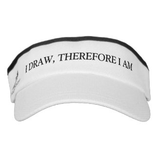 I Draw Therefore I Am Visor