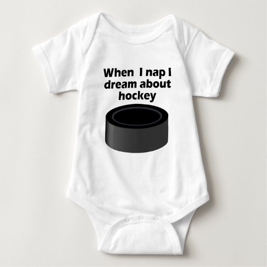 I Dream About Hockey Baby Bodysuit