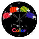 I Dream in Color Sheep Clocks