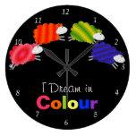 I Dream In Colour Sheep Clocks
