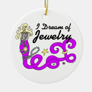 I Dream Of Jewelry Mermaid Christmas Ornament