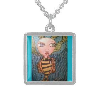 I Dream of mermaids Square Pendant Necklace