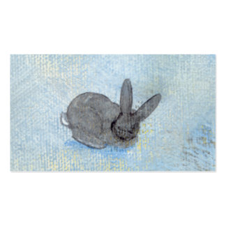 I Dream of Rabbits fun unique modern art painting Business Card Template