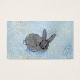 I Dream of Rabbits fun unique modern art painting Business Card