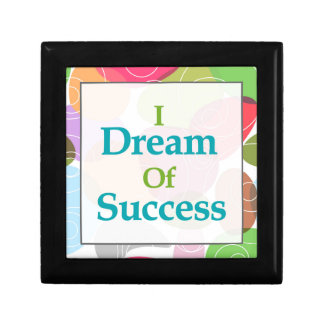 I Dream Of Success Small Square Gift Box