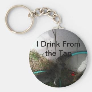 I Drink From the Tap Basic Round Button Key Ring