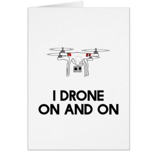 I drone on and on quadcopter card