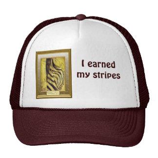 I earned my stripes, zebra design cap