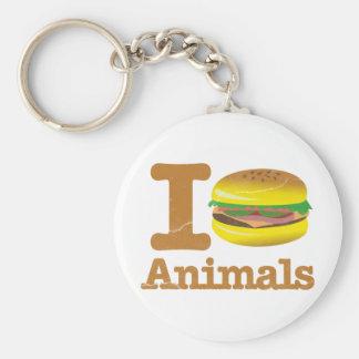 I Eat Animals Basic Round Button Key Ring