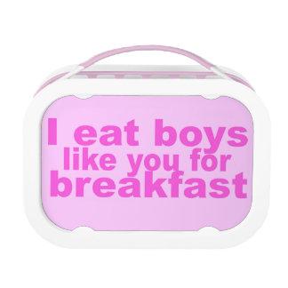 I eat boys lunchboxes