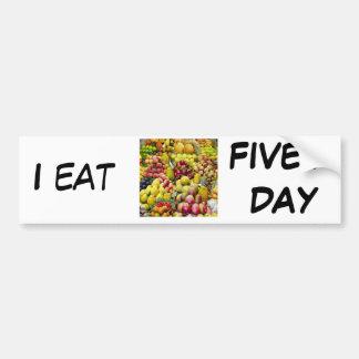 I eat five a day bumper sticker