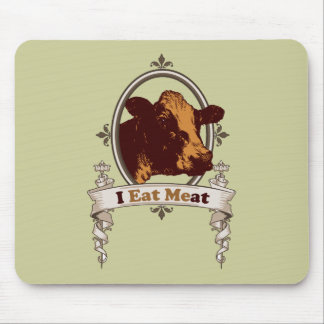 I Eat Meat Cow Mouse Pads