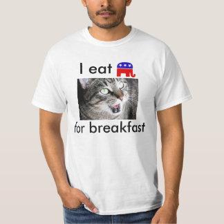 I Eat Republican Elephants For Breakfast T-Shirt