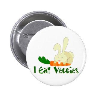 I Eat Veggies Button