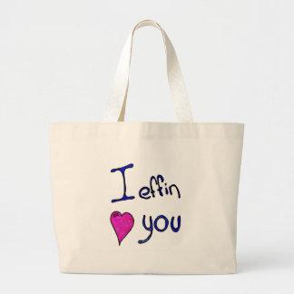 I effin heart you jumbo tote bag