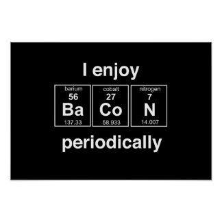 I Enjoy Bacon Periodically Poster