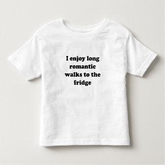 I Enjoy Long Romantic Walks To The Fridge Tee Shirts
