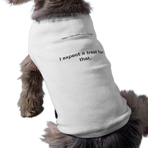 I expect a treat for that. doggie shirt